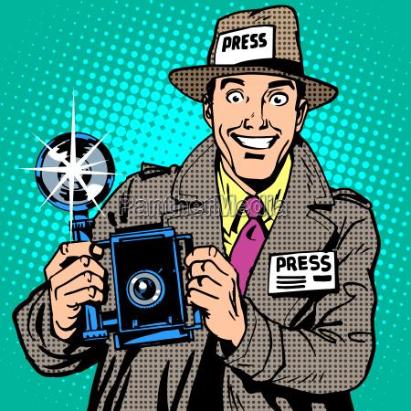 photographer paparazzi at work press media