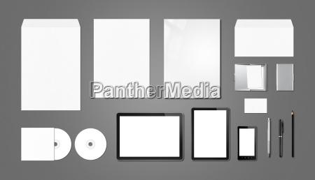 corporate branding mockup template dark grey