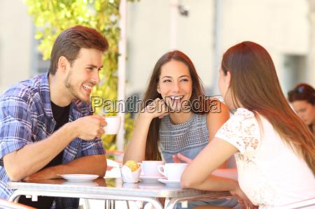 friends talking in a coffee shop