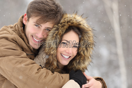 couple laughing with a perfect smile