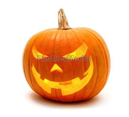 halloween pumpkin with evil grin