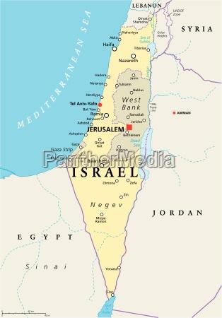 israel political map