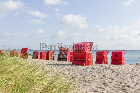 baltic sea beach with red beach