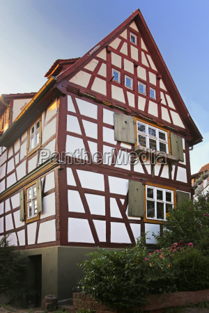 old half timbered house on the