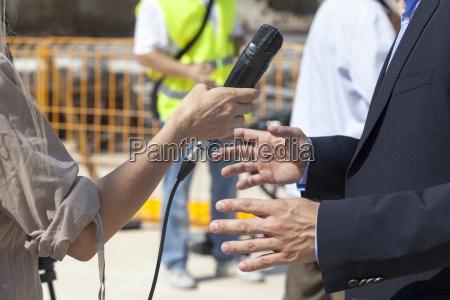 media interview broadcast journalism