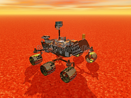 mars rover on red planet