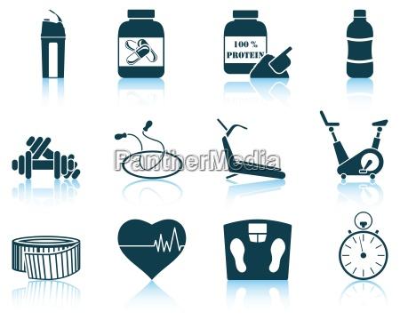 set of fitness icon