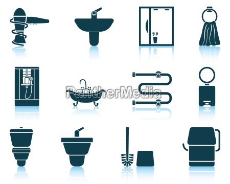 set of bathroom icon