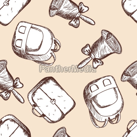 back to school seamless doodle pattern