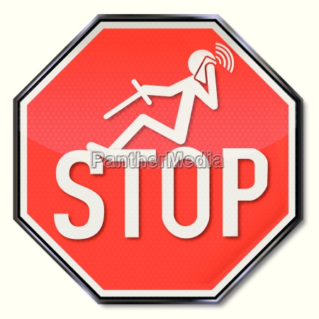 stop sign for making phone calls
