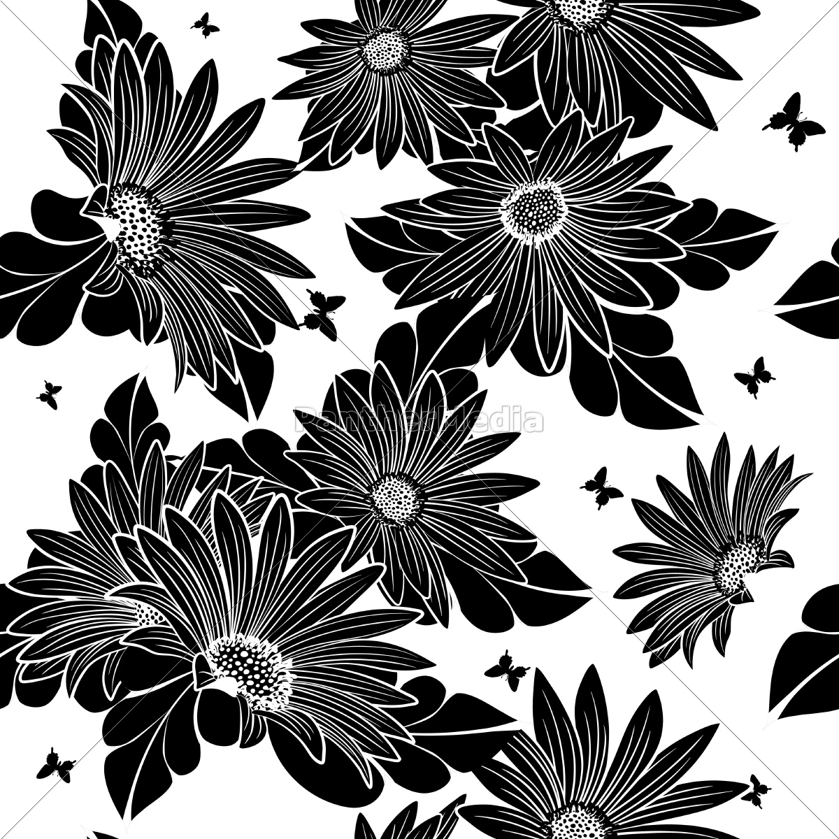seamless, vector, floral, pattern. - 14772161