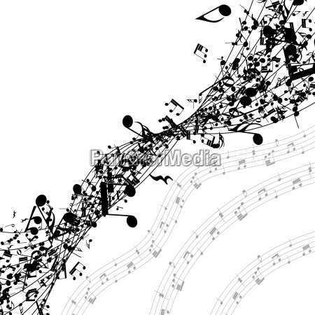 musical notes in a row