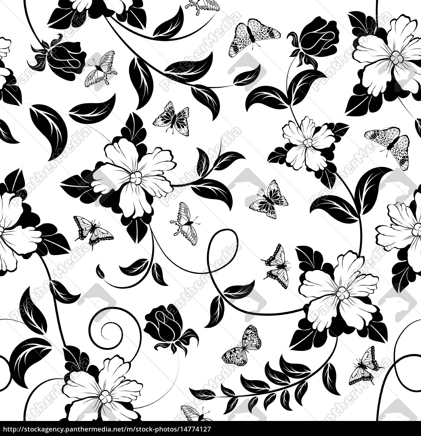 Seamless Floral Pattern Royalty Free Image 14774127