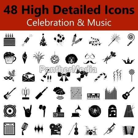 celebration and music smooth icons