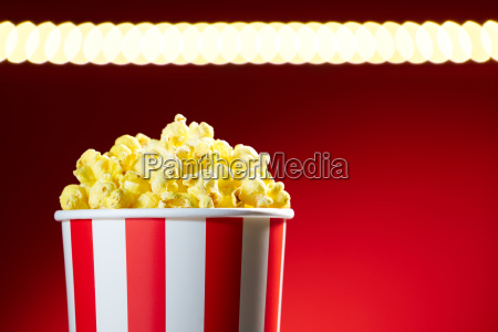bowl filled with popcorns for movie