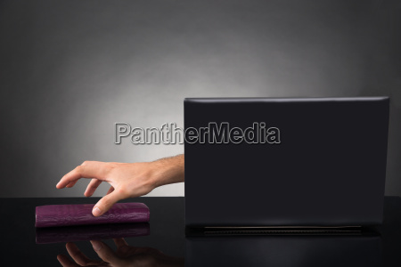 person hand reaching out from a