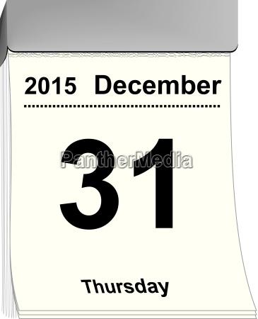 tear off calendar december 31 2015