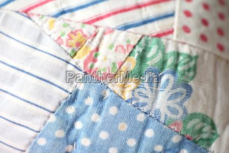 closeup of antique quilt