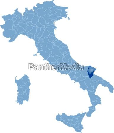 map of italy barletta andria trani