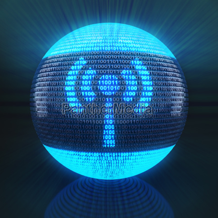 wifi symbol on globe formed by