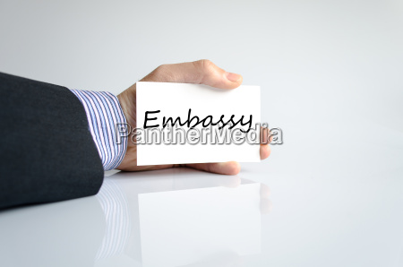 embassy text concept