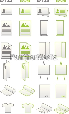 collection of icons media promotion