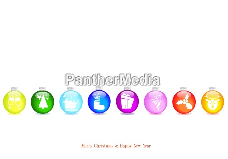 christmas background with white balls brightly