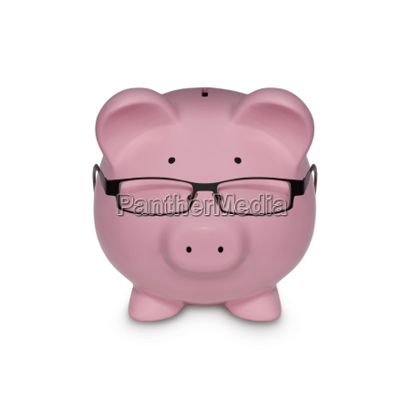 piggy bank portrayed as a manager