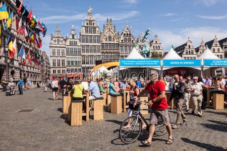 great market square in antwerp belgium