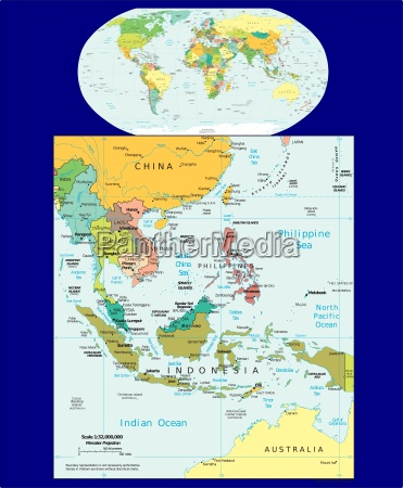 world and southeast asia region map