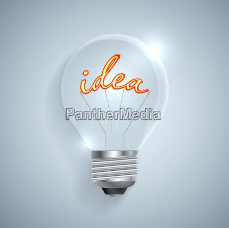 lightbulb with idea sign on a