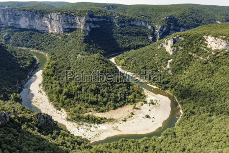the river ardeche in france