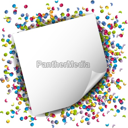 confetti colorful background with note vector