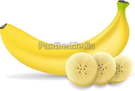 banana with banana slices on a