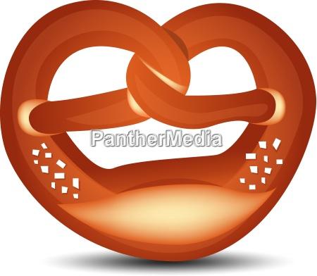 isolated pretzel vector