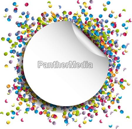 confetti birthday background vector