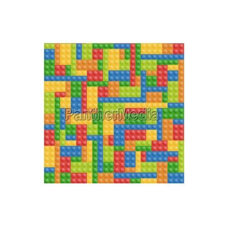 seamless building blocks vector background