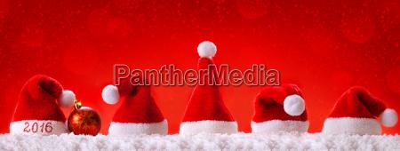 happy new year 2016 santa hats