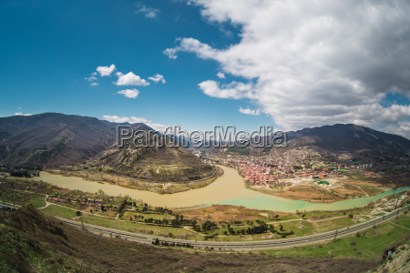 panoramic view of mtskheta georgia