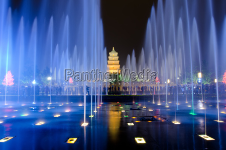 musical fountain show in front of