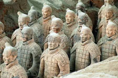 terracotta army near the city of