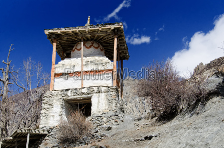 old buddhist stupa near the village