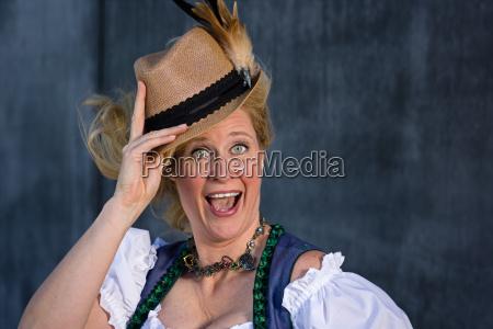 bavarian woman in traditional clothing oktoberfest