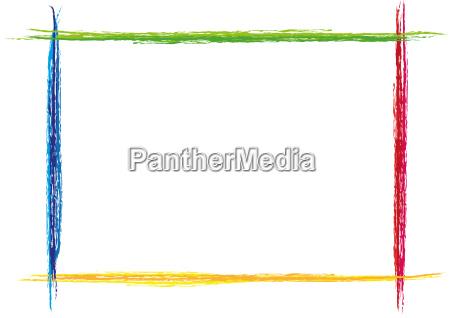 colorful frame painted slash