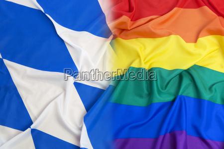 bavaria flag vs rainbow flag