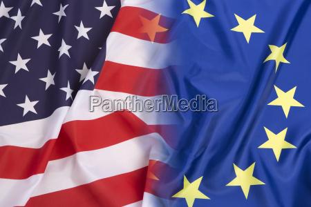 us flag vs european union flag