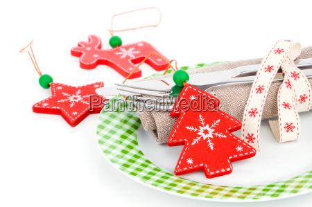 christmas laid table