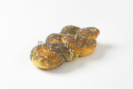 braided poppy seed bread roll