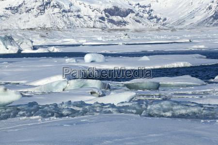 global warming at glacier lagoon jokulsarlon