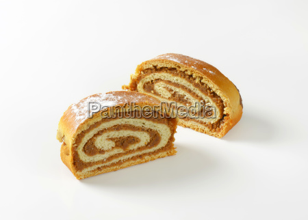 walnut roll slices
